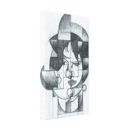 Juan Gris - cabeza de Germana Raynal Impresión En Lona
