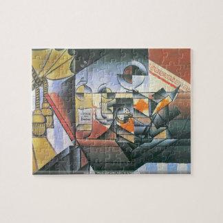Juan Gris - Clock and bottle Jerez de la Frontera Jigsaw Puzzle