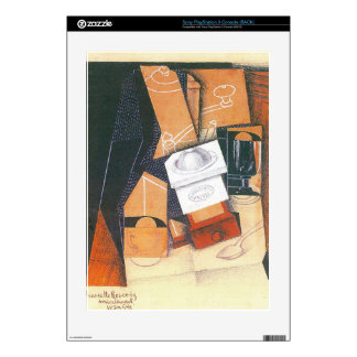 Juan Gris - Coffee grinder cup and glass on a tabl Skins For The PS3