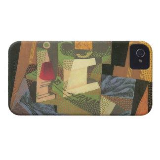 Juan Gris - cuenco de fruta en un mantel iPhone 4 Case-Mate Cárcasas