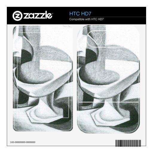 Juan Gris - cuenco de la botella y de fruta Skins Para HTC HD7