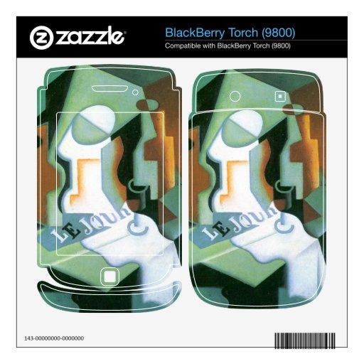 Juan Gris - cuenco de la botella y de fruta Skins Para BlackBerry