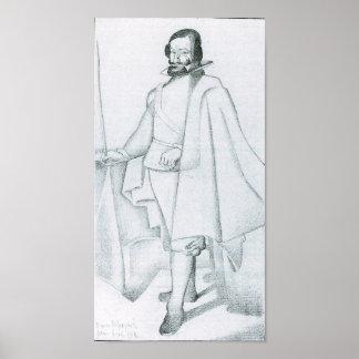 Juan Gris - Don Caspar du Guzman (Velaquez) Poster