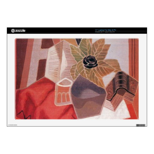 "Juan Gris - Flowers on the table 17"" Laptop Skin"