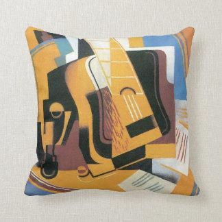 Juan Gris - fotografía del arte abstracto de la Cojín
