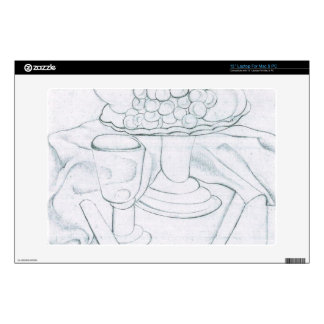 """Juan Gris - Fruit bowl glass and knives Decal For 13"""" Laptop"""