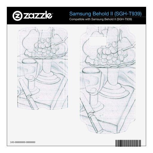 Juan Gris - Fruit bowl glass and knives Samsung Behold II Skins