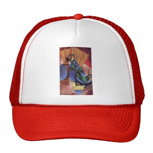 Juan Gris- Glass, Cup and Newspaper Mesh Hats