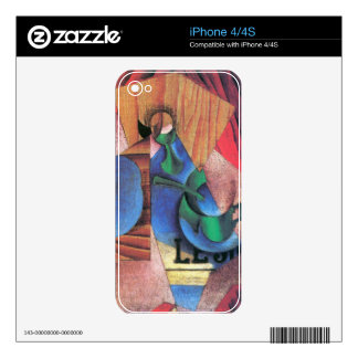 Juan Gris - Glass cup and newspaper Skin For The iPhone 4