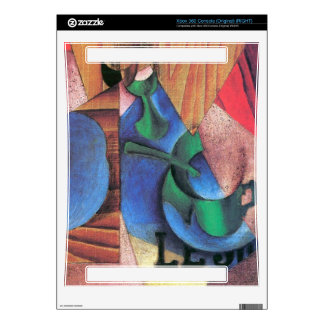 Juan Gris - Glass cup and newspaper Skin For Xbox 360