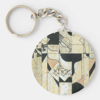 Juan Gris - Guitar and glass Key Chains