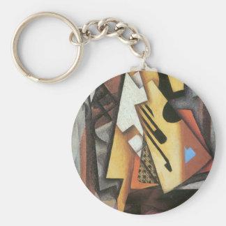 Juan Gris - Guitar and stool Key Chain