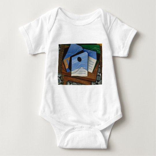 Juan Gris - Guitar on a table Baby Bodysuit