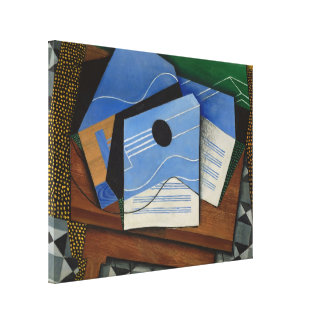 Juan Gris - Guitar on a table Canvas Print