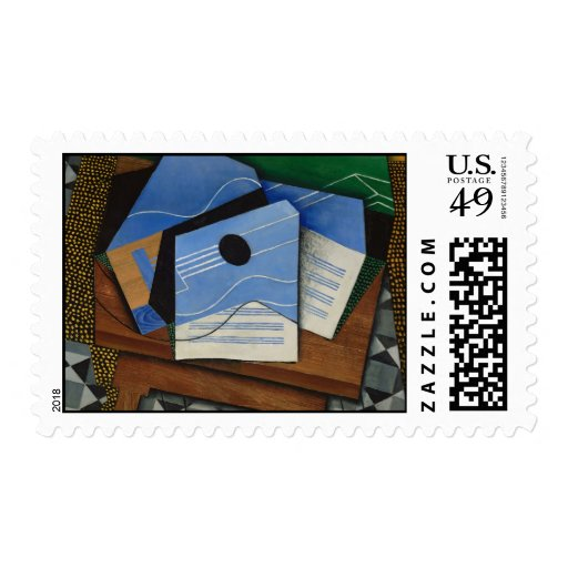 Juan Gris - Guitar on a table Postage Stamp
