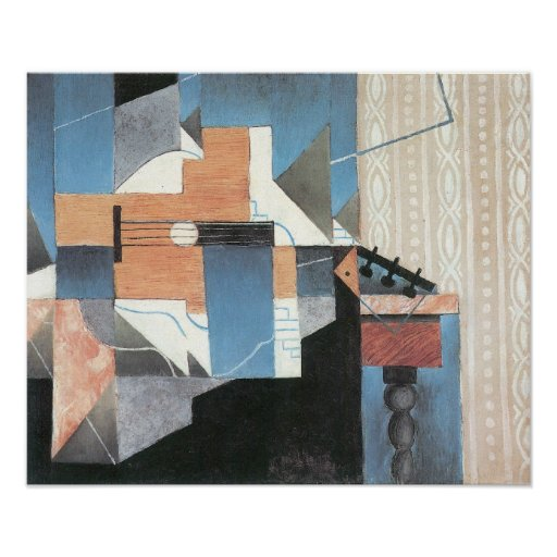 Juan Gris - Guitar on a table Poster