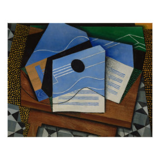 Juan Gris - Guitar on a table Posters