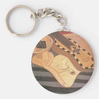 Juan Gris - Guitar with ornaments Key Chain