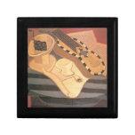 Juan Gris - Guitar with ornaments Trinket Boxes