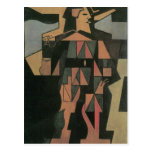 Juan Gris - Harlequan Postcard