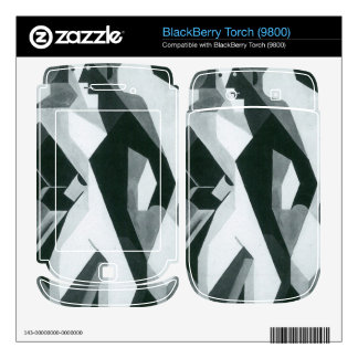 Juan Gris - Harlequan with Stool BlackBerry Torch Decal
