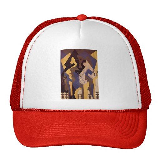 Juan Gris- Harlequin at a Table Hat