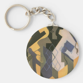Juan Gris - Harlequin with table Key Chain