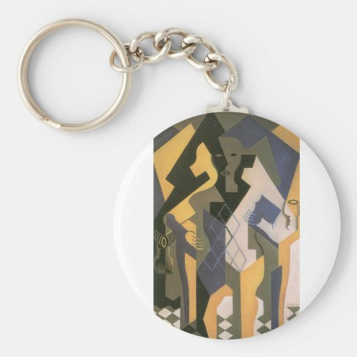 Juan Gris - Harlequin with table Keychains