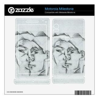 Juan Gris - Head of a man (head of a woman) Motorola Milestone Skins
