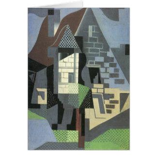 Juan Gris - Houses in Beaulieu Card
