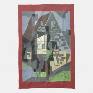 Juan Gris - Houses in Beaulieu Kitchen Towels