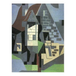 Juan Gris - Houses in Beaulieu Post Card