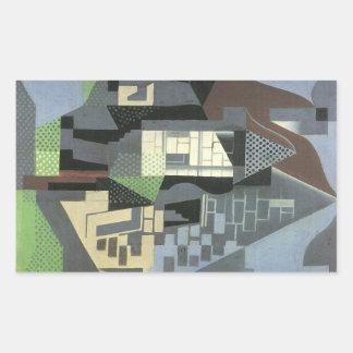 Juan Gris - Houses in Beaulieu Rectangular Stickers