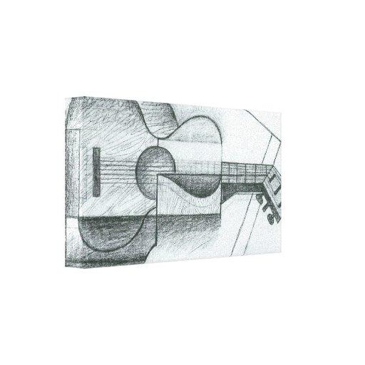 Juan Gris - la guitarra Impresión En Lienzo Estirada