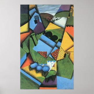 Juan Gris - Landscape with houses in Ceret Poster