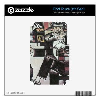 Juan Gris - Man in Cafe iPod Touch 4G Skin