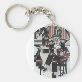 Juan Gris - Man in Cafe Keychains