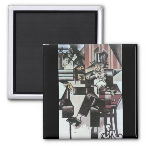 Juan Gris - Man in Cafe Magnet