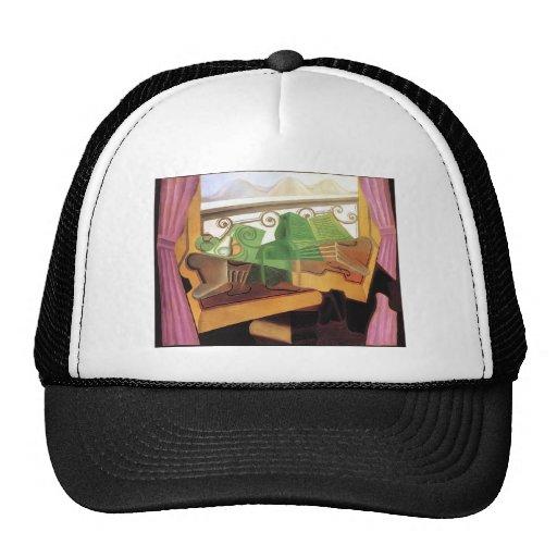 Juan Gris- Open Window with Hills Mesh Hats