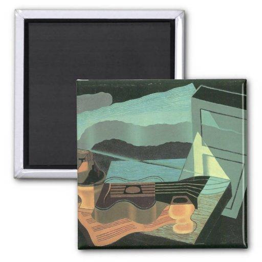 Juan Gris - Overlooking the bay Fridge Magnets