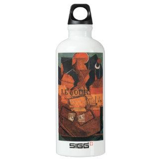 Juan Gris - periódico del tabaco y botella de vino
