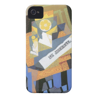 Juan Gris - periódicos y cuenco de fruta Case-Mate iPhone 4 Funda