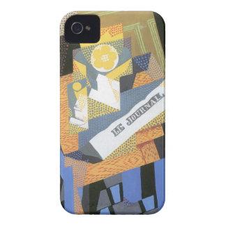 Juan Gris - periódicos y cuenco de fruta iPhone 4 Case-Mate Protector