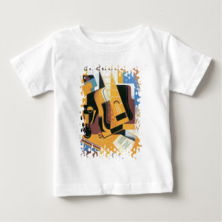 Juan Gris - Photograph of The Guitar Abstract Art Baby T-Shirt