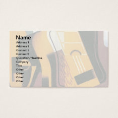 Juan Gris - Photograph Of The Guitar Abstract Art Business Card at Zazzle