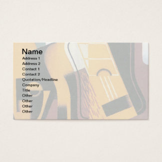 Juan Gris - Photograph of The Guitar Abstract Art Business Card