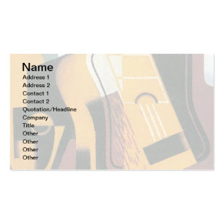 Juan Gris - Photograph of The Guitar Double-Sided Standard Business Cards (Pack Of 100)
