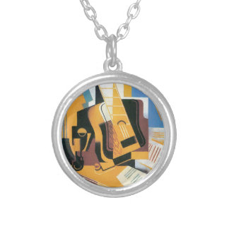 Juan Gris - Photograph of The Guitar Round Pendant Necklace