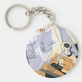 Juan Gris - Pierrot Keychain