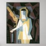 Juan Gris - Pierrot Print